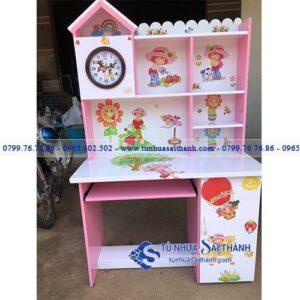 Hình 1. Bàn học nhựa Đài Loan được thiết kế đẹp và phù hợp với kích thước, độ tuổi của trẻ