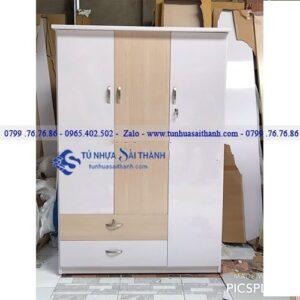 Hình 1. Tủ nhựa đựng quần áo 2 ngăn dưới của thương hiệu Đài Loan